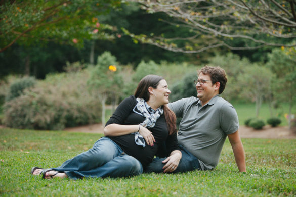 outdoor park maternity photo