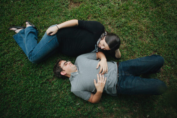 outdoor park maternity photo aerial