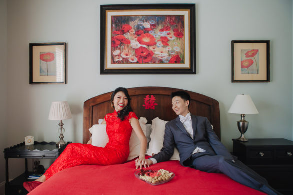 Chinese wedding tradition red bed
