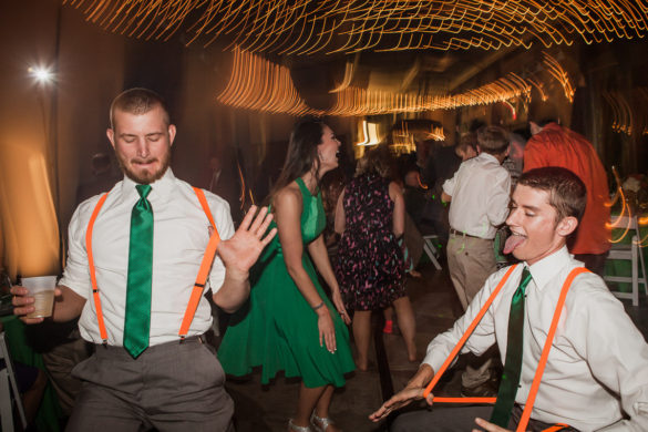 groomsmen dancing wedding reception