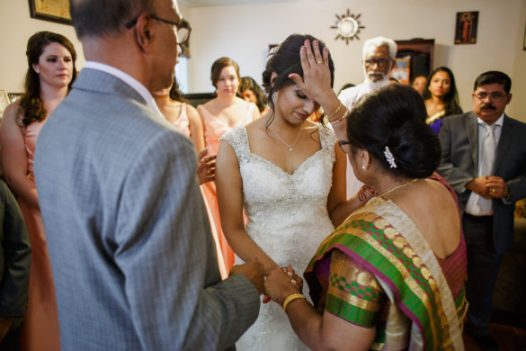 indian wedding bridal ceremony prayer