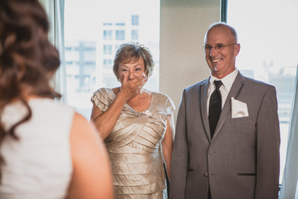 parents emotional seeing bride