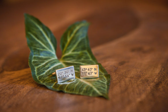 wedding cufflinks custom map coordinates