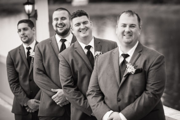 groomsmen laughing ceremony