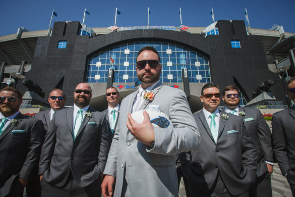 groomsmen carolina panthers stadium