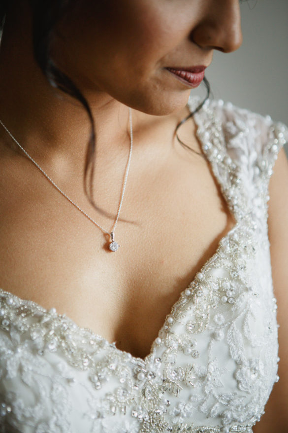 diamond pendant bride