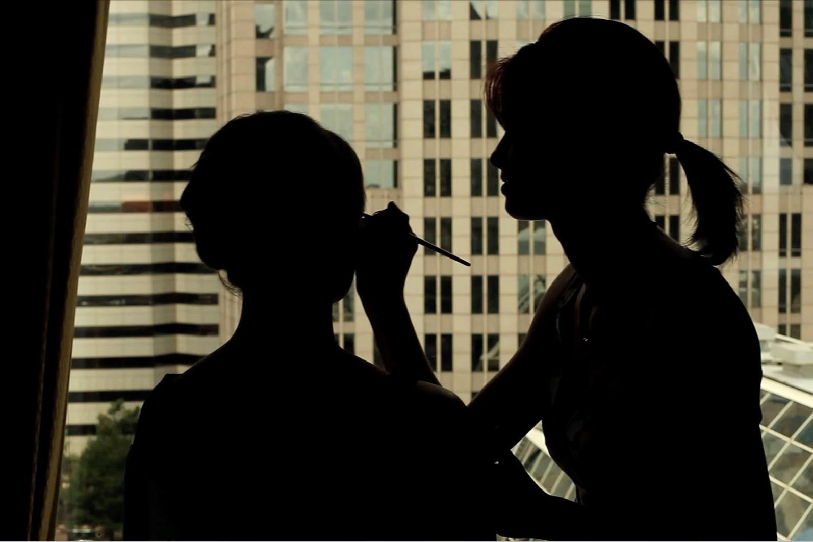 makeup silhouette charlotte city ckyline