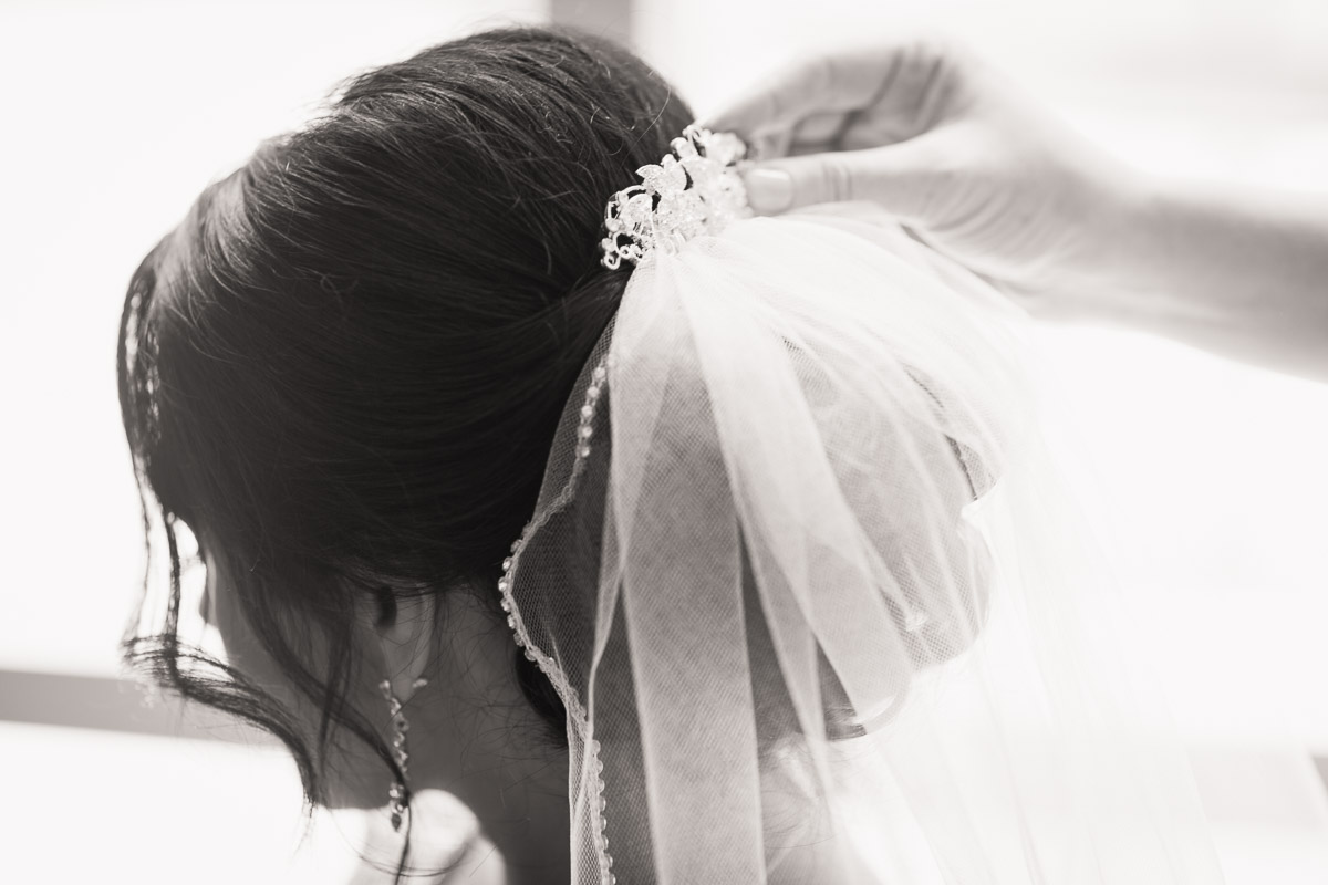 bride's wedding veil