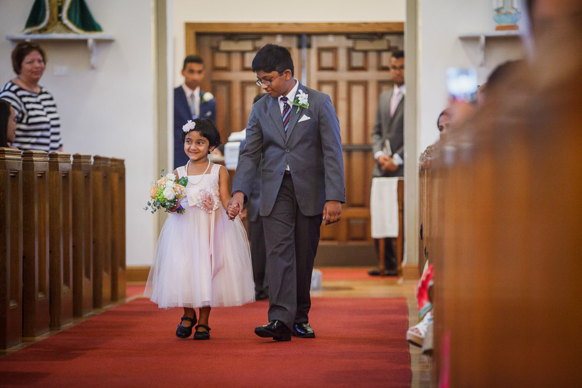 flower girl saint patrick's cathedral wedding