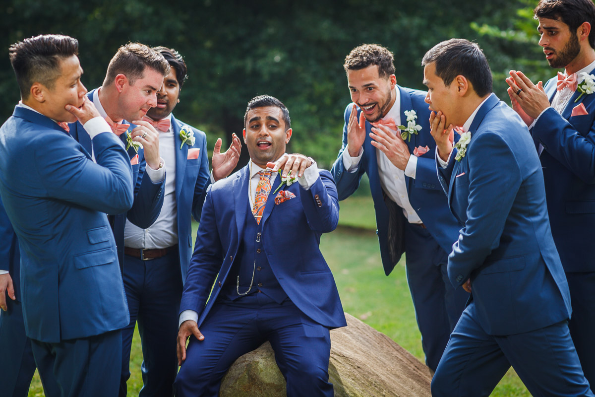 silly groomsmen picture ring
