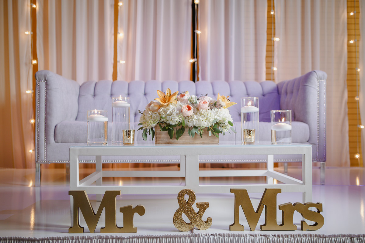 Mr. and Mrs. wedding decor