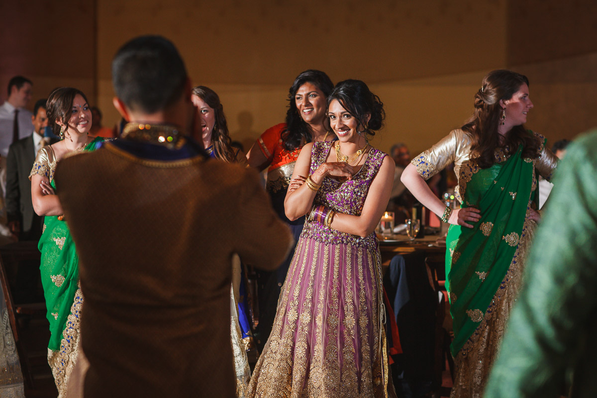 Indian wedding bride and groom dance off
