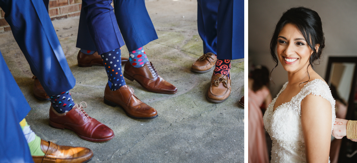 groomsmen polka dot socks