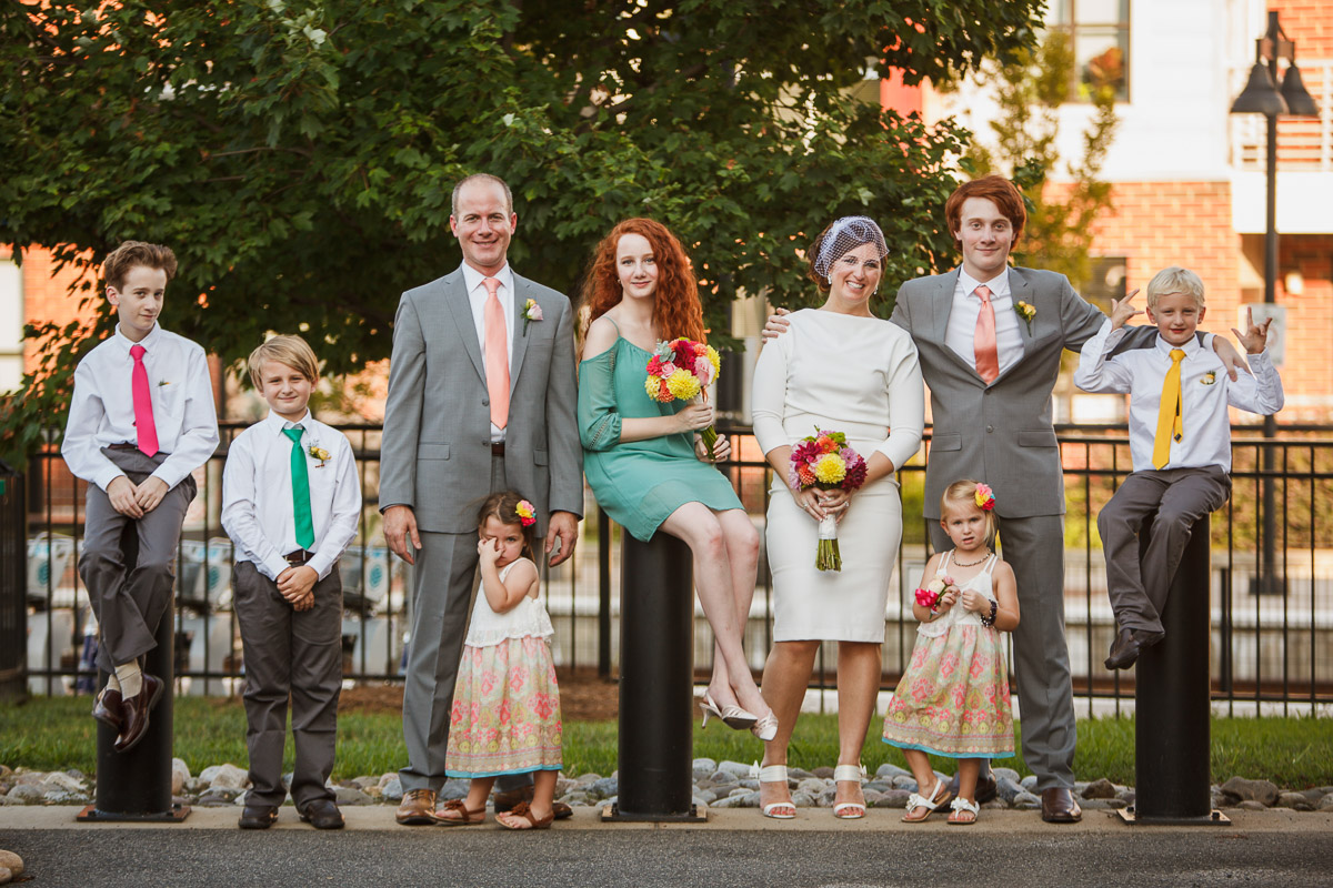 big family wedding photo