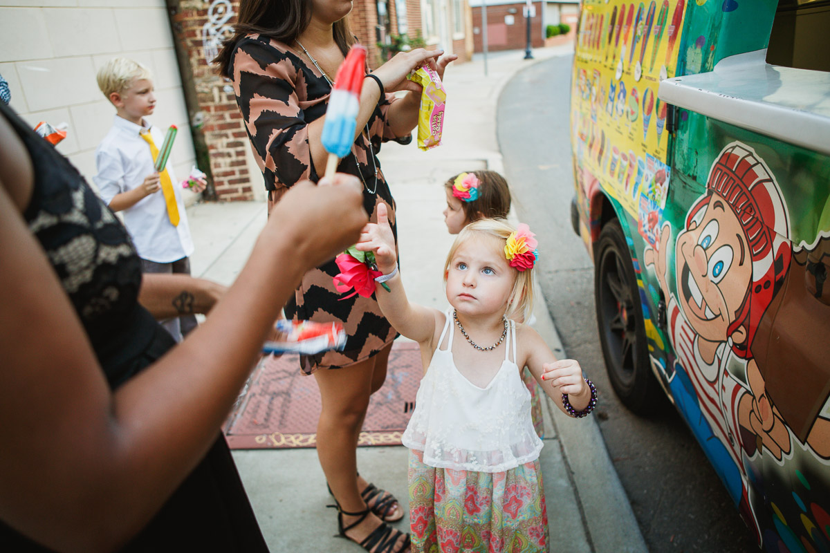 little girl ice cream truck
