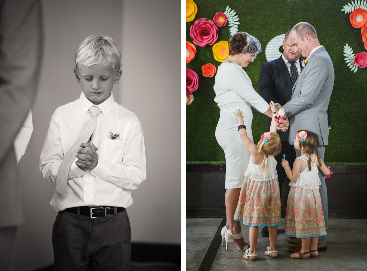 wedding with children